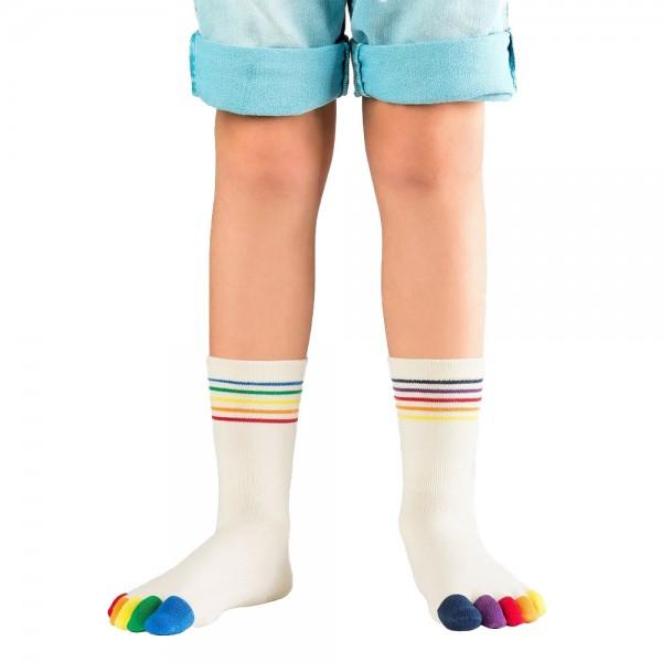 Kids Zehensocke Rainbow